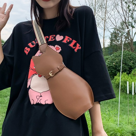 wholesale cute cat shape wide strap chest bag Nihaojewelry NHLH386275's discount tags