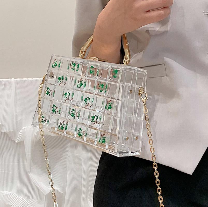wholesale transparent acrylic printing messenger bag Nihaojewelry NHLH386280
