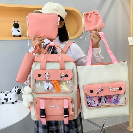 wholesale five-piece Oxford cloth bear doll backpack Nihaojewelry NHGA386342's discount tags
