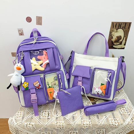 wholesale four-piece high duck doll pendant capacity backpack Nihaojewelry NHGA386343's discount tags