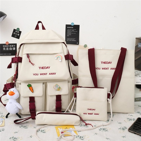 wholesale clashing color four-piece large capacity backpack Nihaojewelry NHGA386348's discount tags
