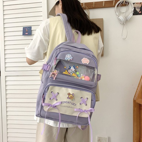 wholesale candy color rabbit pendant backpack Nihaojewelry NHGA386350's discount tags