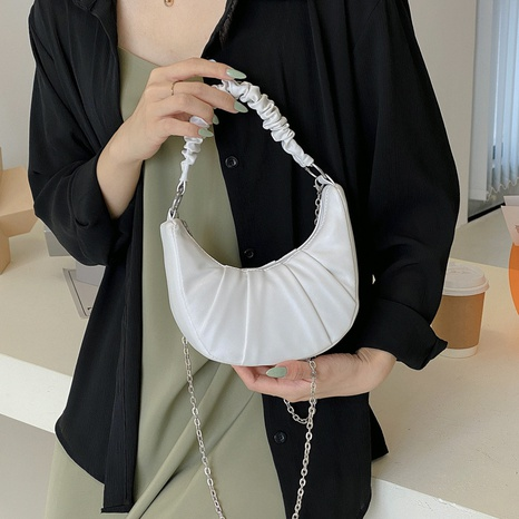 wholesale candy color fold underarm bag Nihaojewelry NHRU386434's discount tags