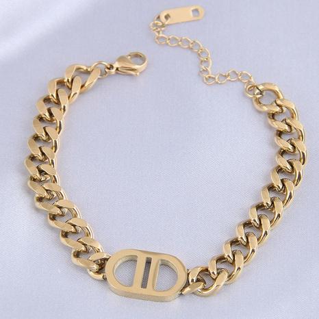 Nihaojewelry Großhandel Schmuck Mode Metall D Wort Titan Stahlarmband steel NHSC387035's discount tags