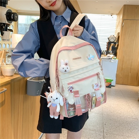 wholesale simple high capacity rabbit doll pendant backpack Nihaojewelry NHGA386345's discount tags