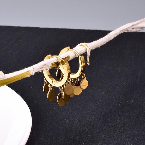 Großhandel Schmuck mehrschichtige geometrische Scheibe Titanstahl Ohrringe Nihaojewelry NHAB386528's discount tags