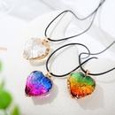 wholesale jewelry geometric heart crystal pendant necklace nihaojewelry  NHLA386645