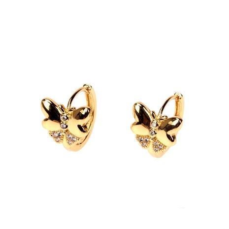 Großhandel Schmuck Zirkon Schmetterling Kupfer Ohrringe Nihaojewelry NHPY386903's discount tags