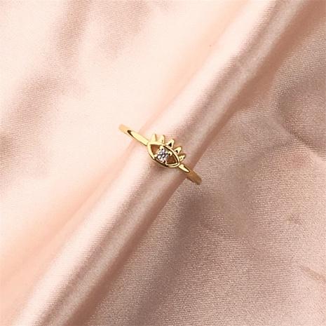 Nihaojewelry, joyería al por mayor, nuevos ojos de diablo, anillo ajustable hueco con micro incrustaciones de circón NHPY386906's discount tags