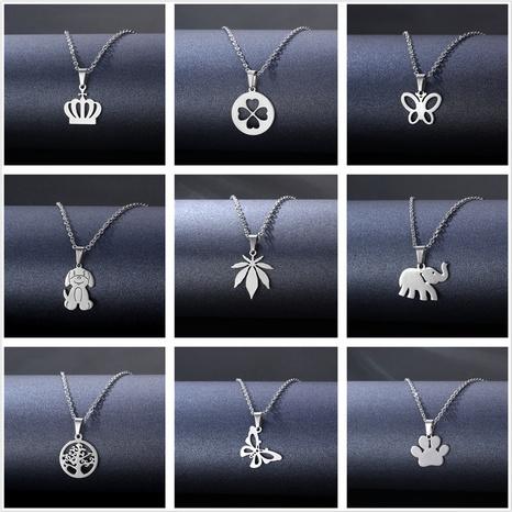 vente en gros bijoux collier géométrique en acier inoxydable de style hip hop Nihaojewelry NHAC386983's discount tags