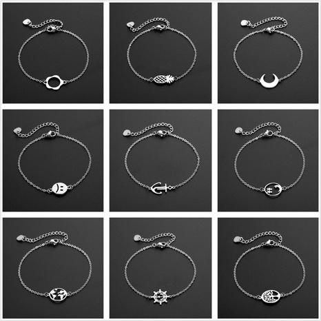 Al por mayor joyería flor perro cruz pulseras de acero de titanio nihaojewelry NHAC386988's discount tags
