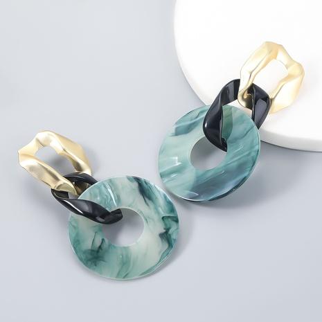 wholesale jewelry alloy geometric resin geometric earrings Nihaojewelry NHJE387145's discount tags