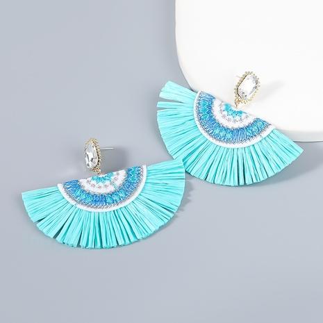 wholesale jewelry bohemia fan-shaped tassel earrings Nihaojewelry NHJE387144's discount tags
