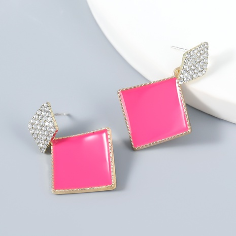 wholesale jewelry simple alloy diamond acrylic earrings Nihaojewelry NHJE387153's discount tags