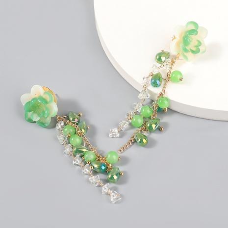 wholesale jewelry alloy resin flower long earrings Nihaojewelry NHJE387159's discount tags