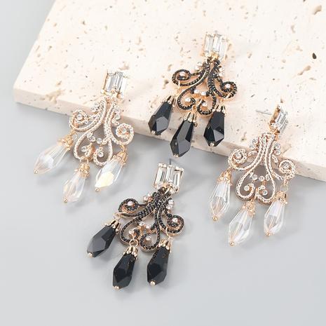 wholesale jewelry retro alloy diamond-studded acrylic resin earrings Nihaojewelry NHJE387167's discount tags