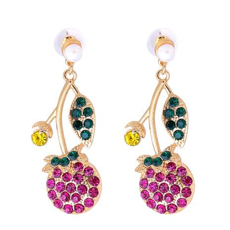 Großhandel Schmuck Obst eingelegte Diamant-Anhänger-Ohrringe nihaojewelry NHJJ387183's discount tags