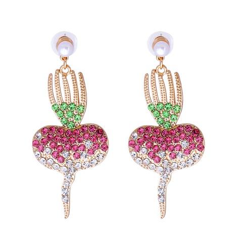 Großhandel schmuck karotte diamantbesetzte anhänger ohrringe nihaojewelry NHJJ387184's discount tags