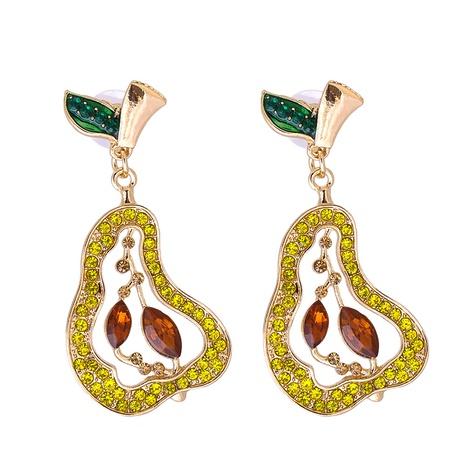 Großhandel Schmuck Obstbirne voller Diamantohrringe nihaojewelry NHJJ387188's discount tags
