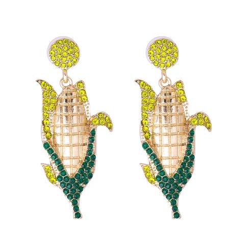 Großhandel Schmuck Gemüsemais voller Diamant Ohrringe nihaojewelry NHJJ387191's discount tags