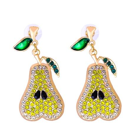 Großhandel Schmuck Birne voller Diamantohrringe nihaojewelry NHJJ387196's discount tags