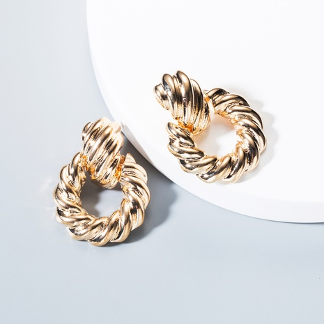 Großhandel Schmuck einfache geometrische glänzende Kreisohrringe Nihaojewelry NHLN387218's discount tags