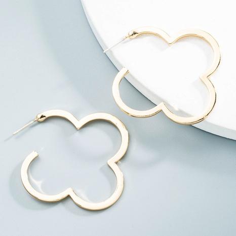 Großhandel Schmuck einfache vierblättrige Kleeblattohrringe Nihaojewelry NHLN387223's discount tags