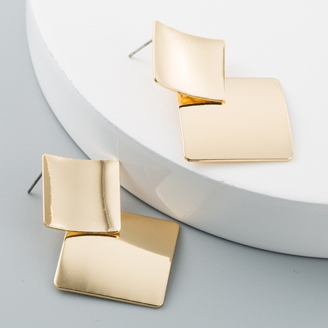 wholesale jewelry geometric shape alloy smooth earrings Nihaojewelry NHLN387227's discount tags