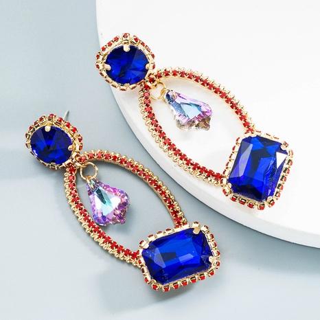 Großhandel Schmuck Retro geometrische Rubinohrringe Nihaojewelry NHLN387229's discount tags