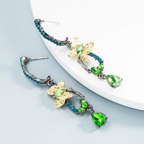 Großhandel Schmuck Retro Diamant Wassertropfen Bogen Vogel Ohrringe Nihaojewelry NHLN387231's discount tags