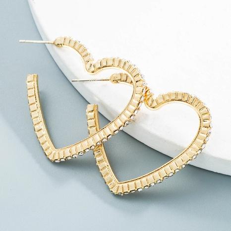 Großhandel Schmuck herzförmige Legierungsohrringe Nihaojewelry NHLN387234's discount tags