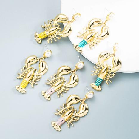 Großhandel Schmucklegierung eingelegte Perlenkrebse Ohrringe Nihaojewelry NHLN387238's discount tags