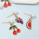 Nihaojewelry wholesale jewelry fashion fruit pendant stud earrings NHNU387958