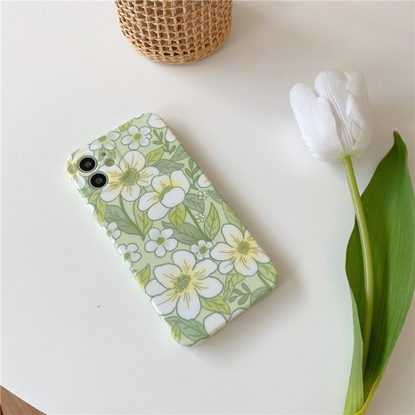 nihaojewelry Großhandel Mode grüne Blumen max Handyhülle NHFI377654's discount tags