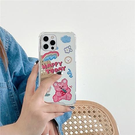 nihaojewelry Großhandel Mode Graffiti Strawberry Bunny Schminkspiegel Handyhülle NHFI377658's discount tags