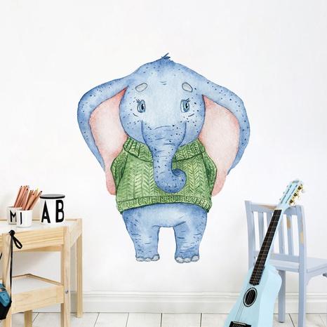 Nihaojewelry Großhandel Einfacher Cartoon Elefant Eingang Wandaufkleber NHAF377696's discount tags