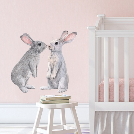 nihaojewelry Großhandel einfache Kaninchen Muster Schlafzimmer Eingang Wandaufkleber NHAF377698's discount tags