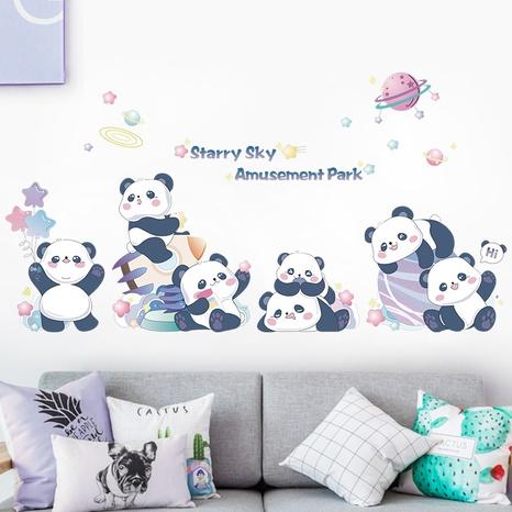 nihaojewelry gros simple mignon dessin animé pandas chambre entrée stickers muraux NHAF377704's discount tags