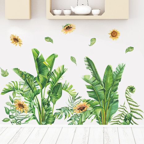 Nihaojewelry Wholesale Fashion Tropical Plant Sunflower Bedroom Wall Sticker NHAF377705's discount tags