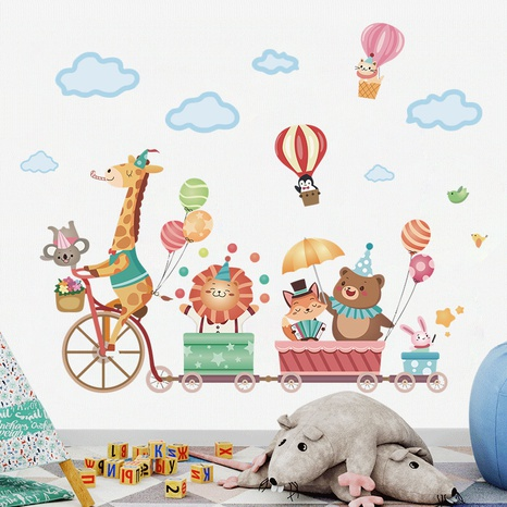 Nihaojewelry Wholesale Simple Animal Cloud Hot Air Balloon Pattern Bedroom Wall Sticker NHAF377707's discount tags