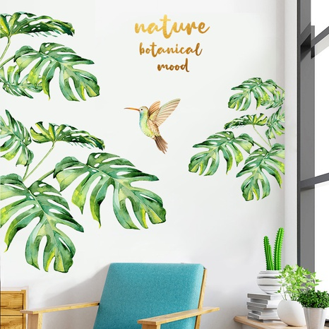 nihaojewelry Großhandel Mode tropische Pflanze Vogel Schlafzimmer Veranda Wandaufkleber NHAF377710's discount tags