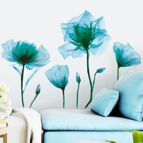 nihaojewelry Großhandel Mode grün romantische Blumen Schlafzimmer Veranda Wandaufkleber NHAF377716's discount tags