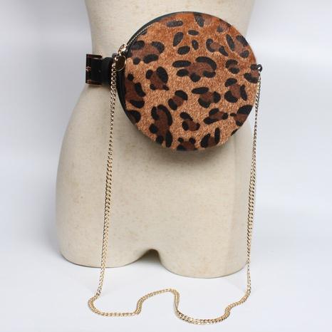 nihaojewelry Großhandel Mode mit Leopardenmuster runder Hüfttasche Gürtel NHJSR377758's discount tags