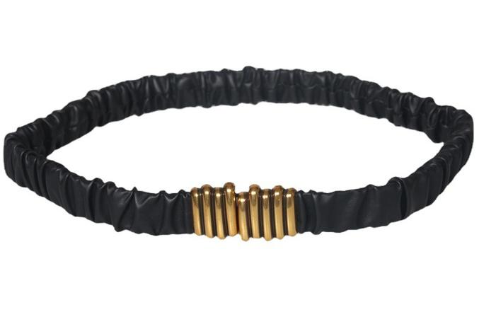 nihaojewelry Großhandel Mode Falten elastischer schwarzer Gürtel black NHJSR377760's discount tags