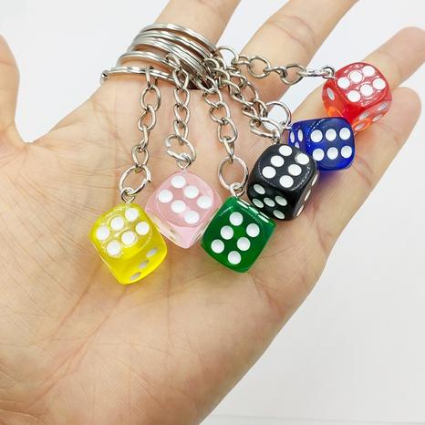 nihaojewelry Großhandel einfacher einfarbiger dreidimensionaler Farbwürfel Schlüsselanhänger NHDI377771's discount tags