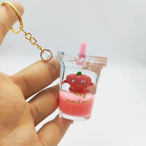 Nihaojewelry Großhandel Einfache Flüssige Treibsand Milch Teetasse Anhänger Schlüsselanhänger NHDI377772's discount tags