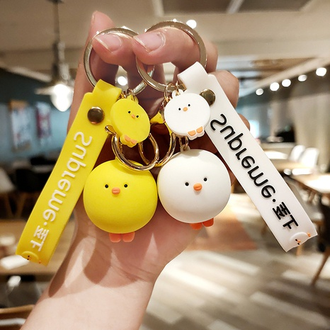 Großhandel Zubehör süße Küken Anhänger Schlüsselanhänger Nihaojewelry NHQYF377774's discount tags