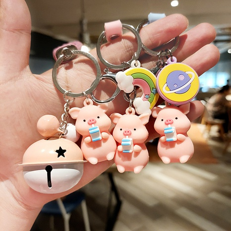 wholesale accessories cute piggy pendant keychain Nihaojewelry NHQYF377777's discount tags