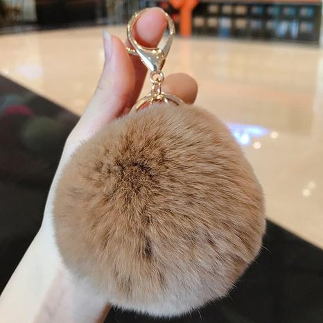 nihaojewelry Korean soft rex rabbit fur ball keychain wholesale  NHQYF377785's discount tags