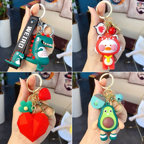 wholesale accessories cartoon Epoxy dinosaur doll keychain Nihaojewelry NHQYF377786's discount tags